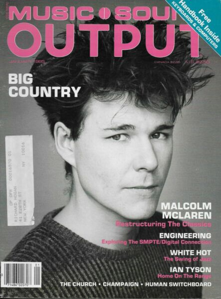 1 85 issue of MUSIC SOUND OUTPUT magazine BIG COUNTRY cover $9.99