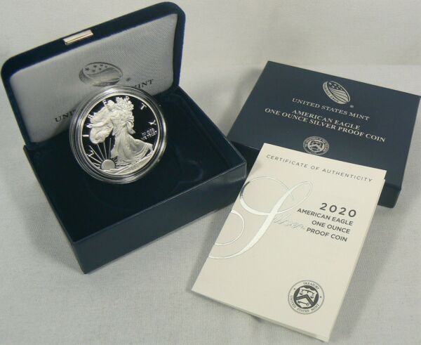 2020-W Silver Proof American Eagle 1 oz Coin (ogpcoa) READY TO SHIP