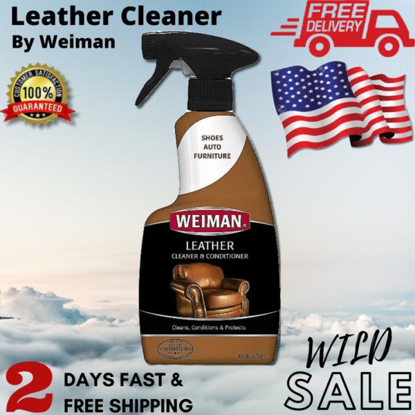 Weiman Leather Cleaner and Conditioner Protect 16 Ounce Use On Finished Leather