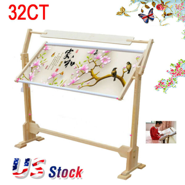DIY Stand Rack Wood Frame Holder Tapestry Cross Stitch Embroider Tool Kits $38.22