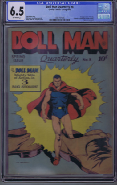 Doll Man #8 Quality Pub 1946 1st appearance  of Torchy CGC 6.5 (FINE +)