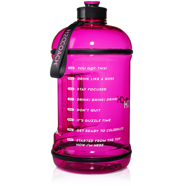 H2OCOACH 1 Gallon Sports Water Bottle with Time Marker  Motivational 3.79 Liter