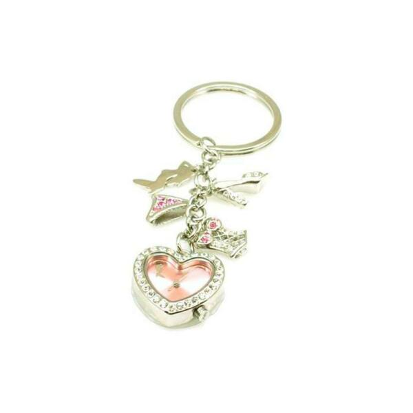 Jordan Pink Ladies Heart Multi Charm Key Chain Watch $26.15