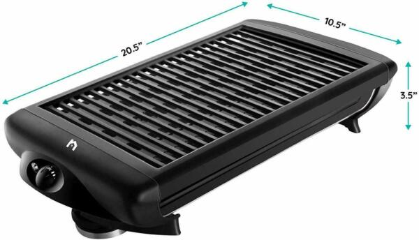 Electric Grill Indoor For Barbecue Bbq Kitchen Tabletop Portable Grilling Inside $89.99