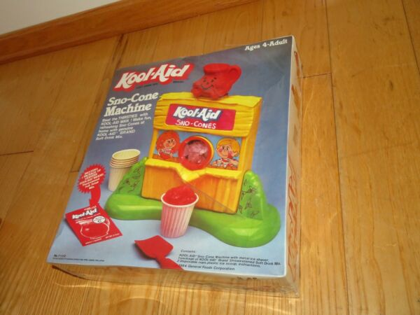 KOOL AID Toy SNO CONE MACHINE FACTORY SEALED NEW Makes real SNOW CONEs