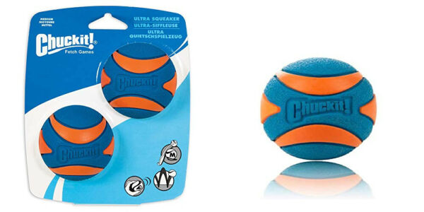 Ultra Squeaker Ball Dog Toy Tough and Durable Design Medium 2-Pack  $9.71