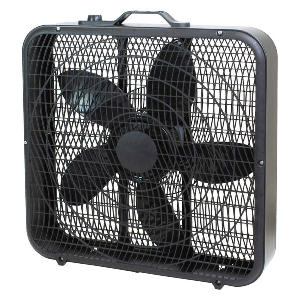 Comfort Zone CZ200ABK High Performance Box Fan Air Conditioner Black 20 Inch