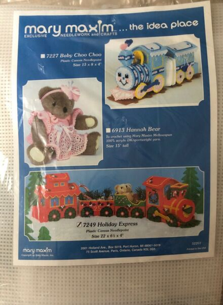Mary Maxim Exclusive Needlework and Crafts 7249 Holiday Express Christmas Train $14.99