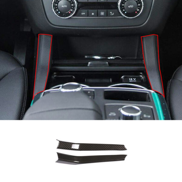 ABS Carbon For Benz GLE GLS ML GL Class W166 Water Cup Holder Cover 2013 2019 $18.53