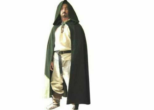 Medieval sale Cloak Green Nice Class Clothing Costumes Very Nice Dress Super $60.00