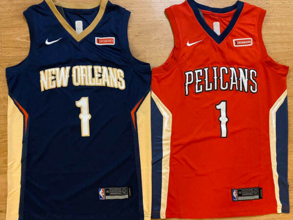 Zion Williamson #1 New Orleans Pelicans Mens Basketball Stitched REDNAVY Jersey
