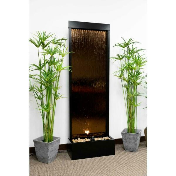 Alpine MLT100 - Waterfall with Decorative Stones and Light - Bronze