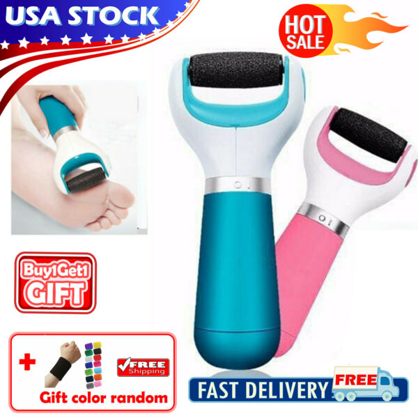 Electric Callus Remover Cordless Foot Skin Care Pedicure Rechargeable USBBatter