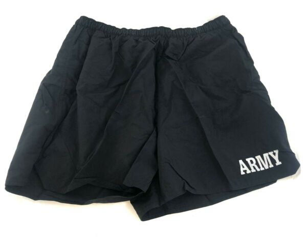 US Army IPFU PT Shorts XL Black Physical Training Fitness Work Out X Large