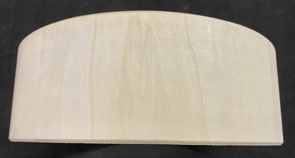 SNARE DRUM SHELL - RAW WOOD 12