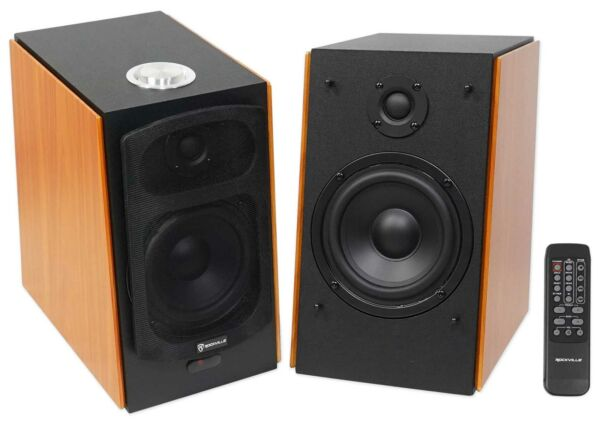 Rockville HD5 150 Watt Home Theater System Bookshelf Speakers/Bluetooth/USB/AUX