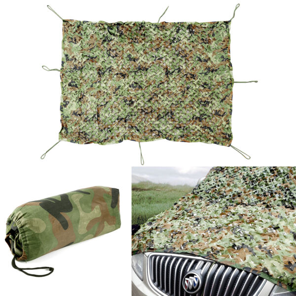 Woodlands Military Army Camouflage Net Camo Cover For Hunting War Game 6.5x4.9FT $18.69