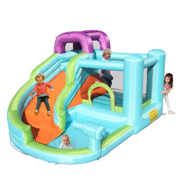 Safety Water Spray Inflatable Bounce House Kids Jump Castle Slide with Blower