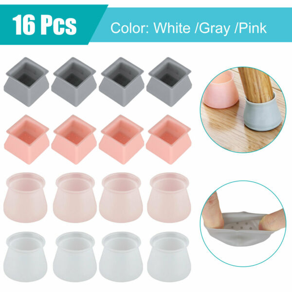 4816pcs Table Chair Leg Silicone Cap Pad Furniture Table Feet Cover Protector