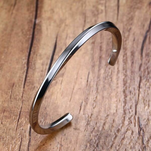 Cuff Bracelets Stainless Steel Bangle Vintage Twisted Mens Casual Gents Jewelry