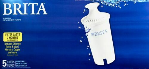 Brita Pitcher Standard Replacement Filters 5 Refills