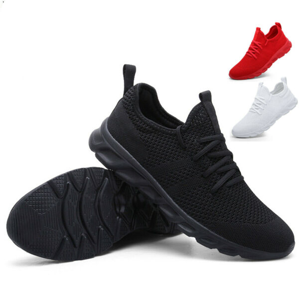 Womens Running Shoes Sport Comfortable Lightweight Mesh Walking Slip-On Sneakers