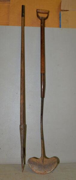 2 antique whaling tools iron flensing cutter gaff hook collectible early tools $249.99