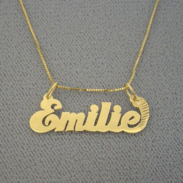 Junior Size Solid 14K Gold Personalized Name Pendant $109.95