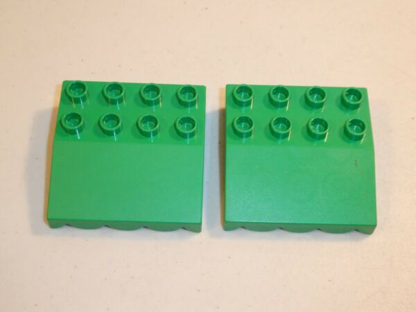 Lego DUPLO LOT OF 2 GREEN ROOF 4x4 Slope 33 AWNING Overhang PIECES PARTS 31170 $4.99