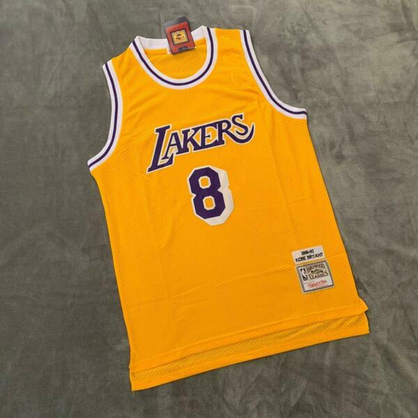 Los Angeles Lakers #8 Kobe Bryant Yellow Throwback Jersey Same Day Shipping