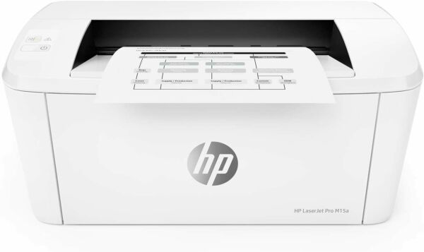 HP Laserjet Pro M15A Smallest Black and White Monochrome Wired Laser Printer