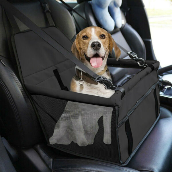 Collapsible Pet Dog Booster Car Seat Cat Car Carrier W Zipper Storage Pocket US $22.69