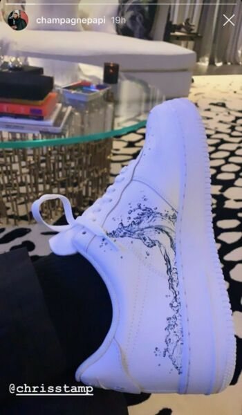 Stampd Custom Air Force One's - Wave Forces (One of 50 handcrafted pairs)