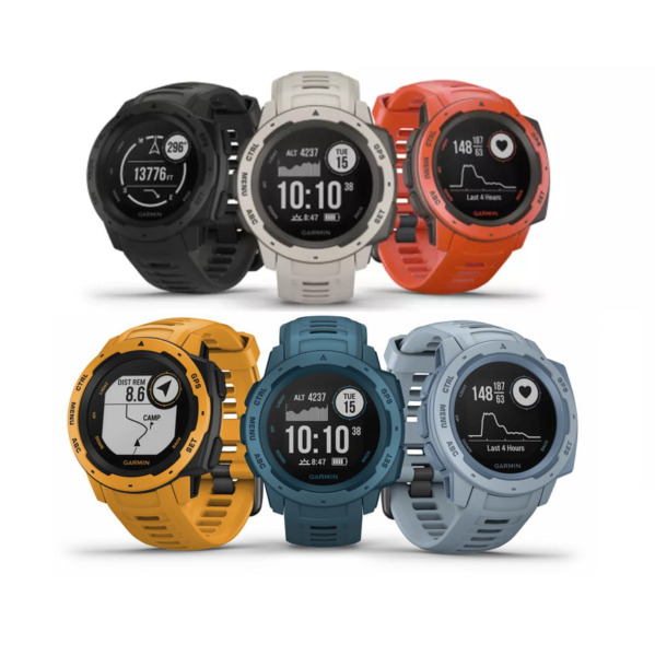 Garmin Instinct Rugged GPS Watch Heart Rate & Barometric Altimeter CHOOSE COLOR