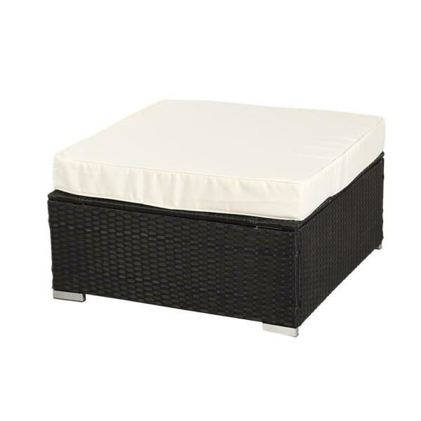 1 PC PE Rattan Wicker Sofa Ottoman Sectional Couch Footstool Outdoor Furniture $65.99