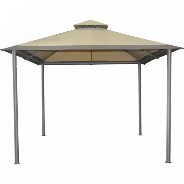 Outdoor Gazebo Savvi 10 x 10 ft Canopy Steel Frame Garden Patio Yard Sun Shelter