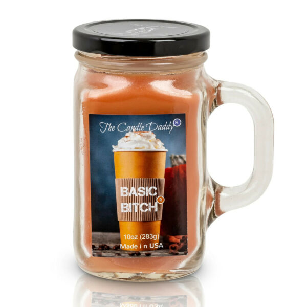 Pumpkin Spice Basic Bitch Scented 10oz Candle 80 Hour The Candle Daddy NEW $29.99