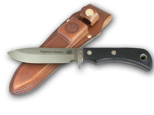 KNIVES OF ALASKA 00157FG MAGNUM ALASKAN SUREGRIP FIXED BLADE KNIFE W SHEATH