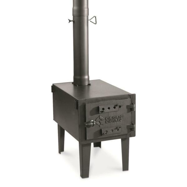 Outdoor Wood Stove Adjustable Air Vent Camp with Pipe For Vented Tent Cooking $149.52