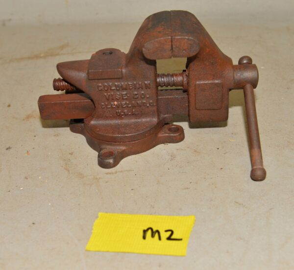 Antique Columbian swivel bench vise amp; anvil No 43 collectible US made 3quot; jaw M2
