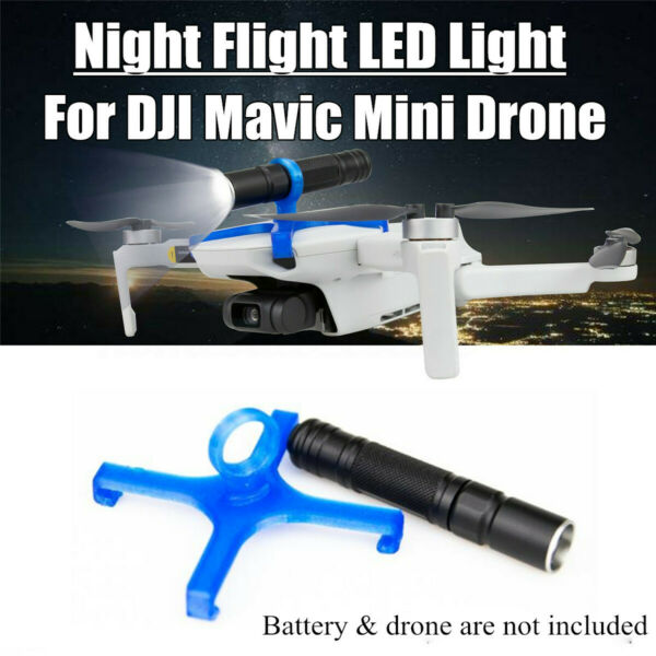 LED Light Night Flight Searchlight Flashlight For DJI Mavic Mini Drone Equipment