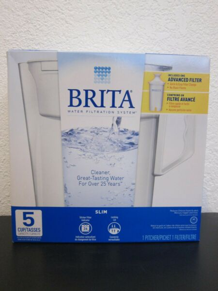 Brand New Brita 5 Cup Slim White Pitcher including 1 filter