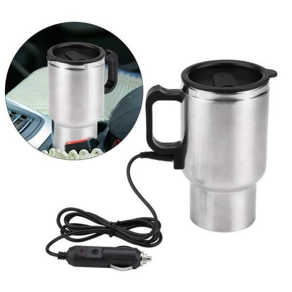 450ml Food Grade Electric Travel Heating Cup Coffee Boiled Water Mug for 12V Car