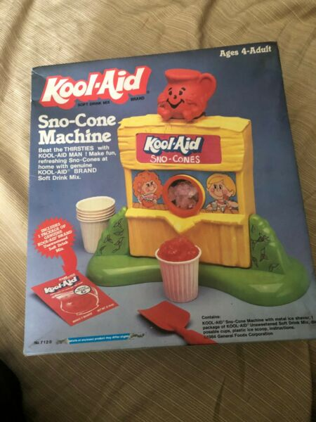 Vintage 1984 Kool-Aid Snow Sno-Cone Machine w. Box General Foods
