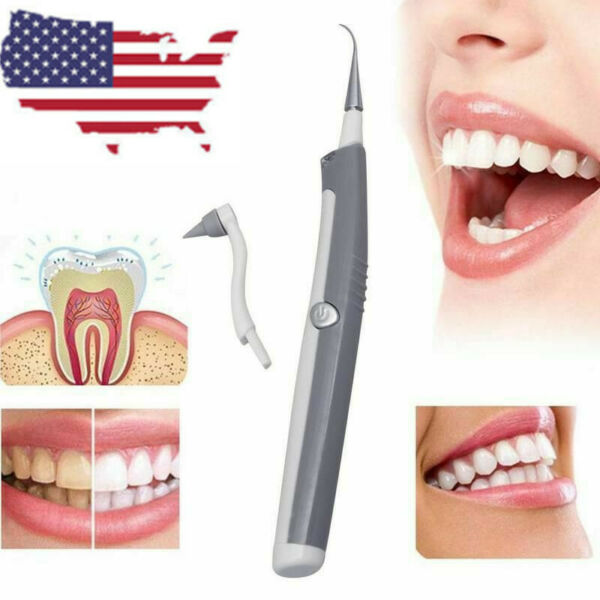 Electric Sonic Pic Tooth Kit Beauty Cleaner Plaque Remover Teeth Tool Oral Care $6.95