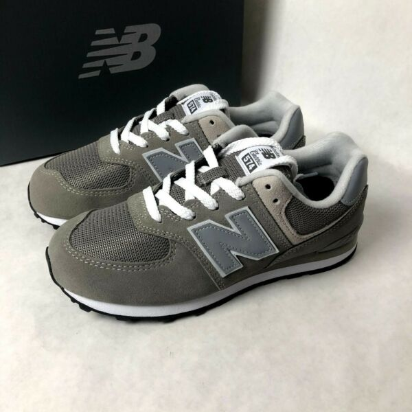 Size 7Y/ Women's 8.5 New Balance 574 Core GC574GG Casual Shoes Grey