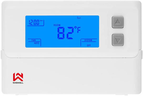 Non Programmable Thermostat Heat Pump Thermostat 24 Volt With Backlit Digital $33.43