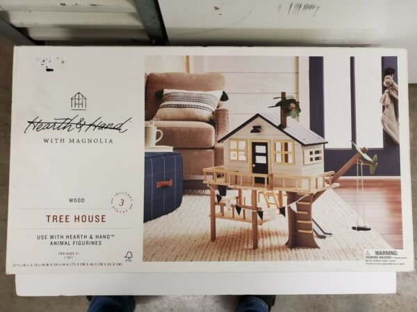 💥NOB! Hearth and Hand with Magnolia Wooden Tree House Toy Set