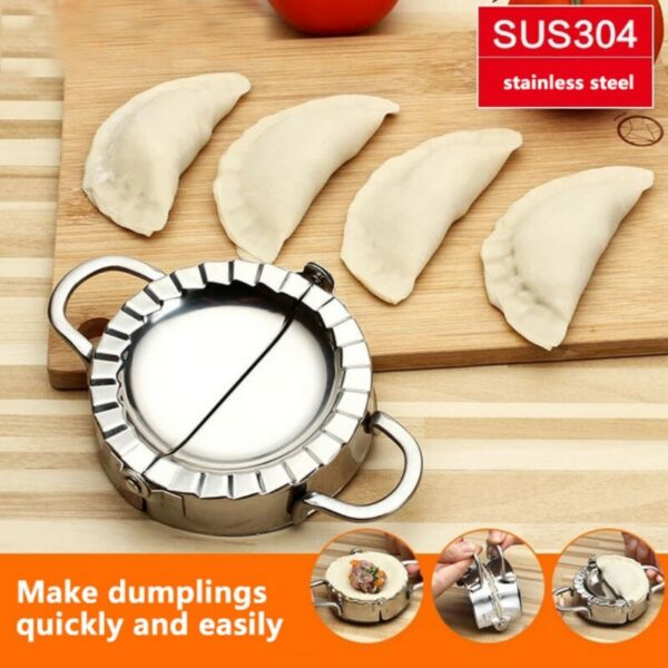 Stainless Steel Dumpling Maker Dumpling Dough Presser Home Kitchen Gadget Tool
