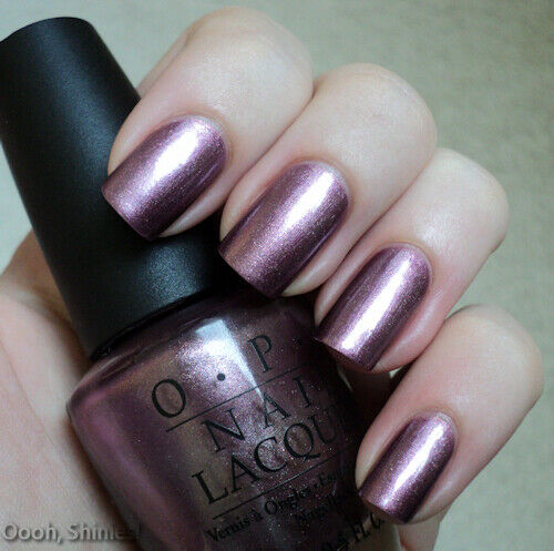 OPI MEET ME ON THE STAR FERRY Metallic Violet Purple Shimmer Nail Polish H49 New